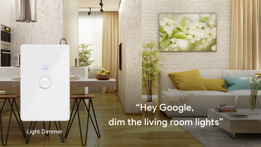 Zimi Powermesh Dimmer works with the Google Assistant for voice control