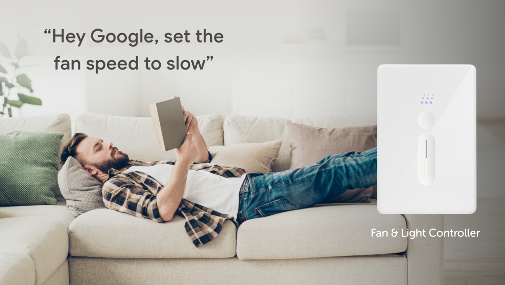 Zimi Powermesh Fan Controller works with the Google Assistant for voice control