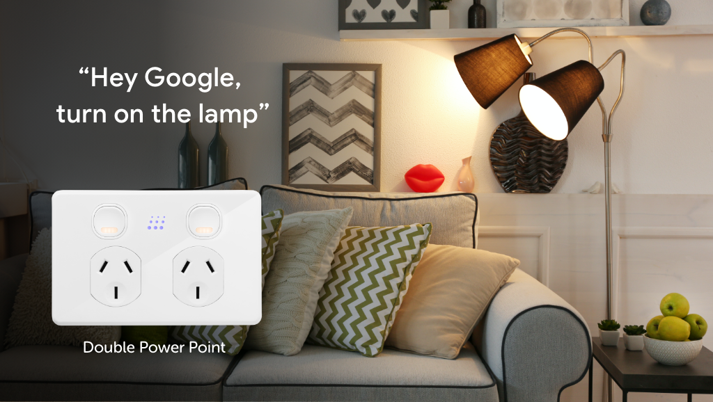 Zimi Powermesh Power Point works with the Google Assistant for voice control