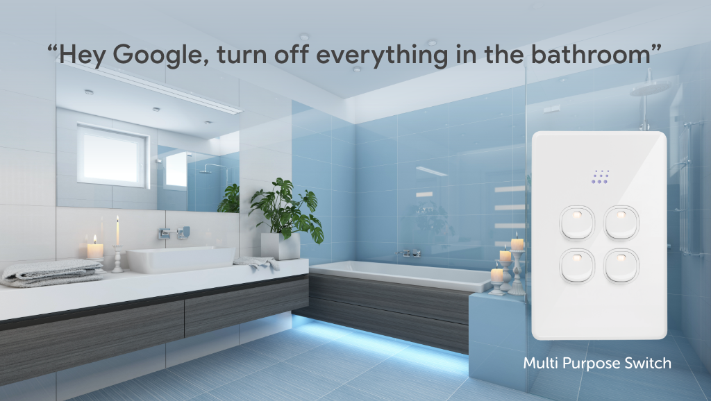 Zimi Powermesh Switches work with the Google Assistant for voice control